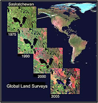 Recent land-cover changes in Saskatchewan.