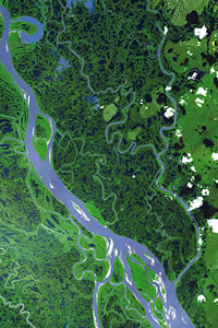 A landscape view from space.